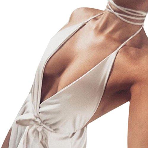 donne Cami Tinta Albicocca Unita Vestito Irregolare Tacca Coolred Collare Spaccato IWqdfIz