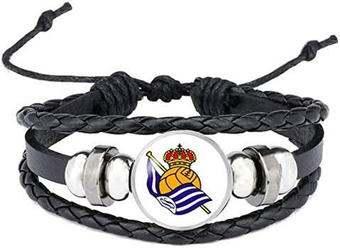 Logotipo Del Club De Fútbol Pulseras Brazaletes España Barcelona Real Madrid Japón México Marruecos Nigeria España Equipo Club Joyería: Amazon.es: Joyería