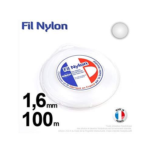 Ryobi-Desbrozadora inalámbrico nylon redondo, 1,6 mm, 100 m ...