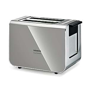 Siemens TT86105 - Tostadora (2 tostadas, 860 W), color gris