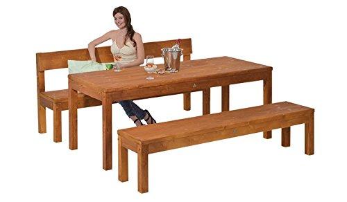 Gartentisch Holztisch Loungetisch Tisch Esstisch Küchentisch Gartenmöbel (192x80x75 fichte natur lackiert)