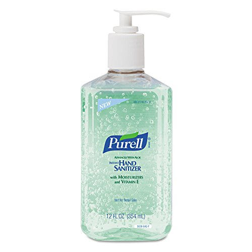 PURELL Advanced Hand Sanitizer Bottle -  Hand Sanitizer Gel with Aloe and Moisturizers, 12 fl oz Bottle (Case of 12) - 3639-12