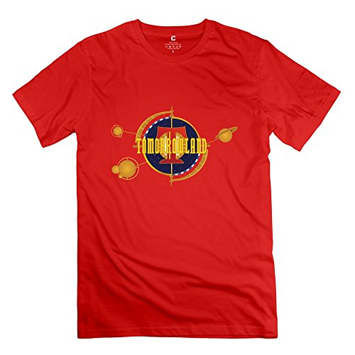 Geek Tomorrowland Logo Movie Men's T Shirt Red Size XL