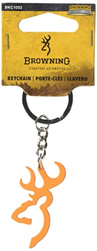 Browning Buckmark Keychain (Hunter Orange Color, Zinc Alloy Construction, 1