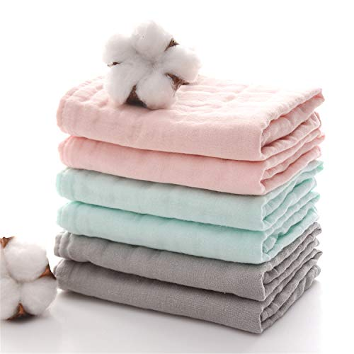 - Baby Bath Washcloths by MUKIN - Muslin Face Towels for Newborn,Ultra Soft Wash Cloths for Babies | Baby Wipes for Baby Sensitive Skin | Perfect Baby Shower Gift.12''X12'' (Set of 6)