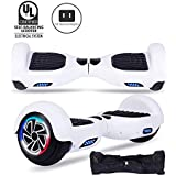"SENGYUE Hoverboard, Two 6.5"" Wheels Self-Balancing Electric Scooter with Colorful LED Lights Dual 300W Motors Smart Hover Board - UL2272 Certified (Classic Series - White)"