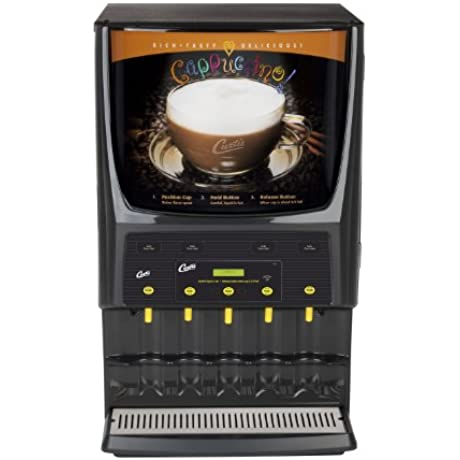 Wilbur Curtis G3 System 5 Station Cappuccino Three 5 Lb And Two 10 Lb Hopper Dual Voltage Commercial Cappuccino Machine PCGT5DV Each