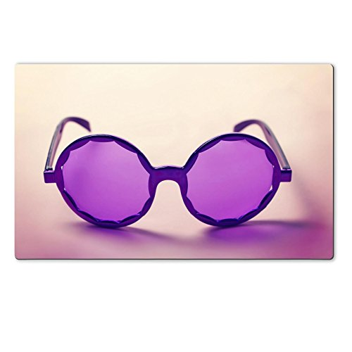 [Luxlady Natural Rubber Large TableMat IMAGE ID: 34009416 Funky purple sixties hippy sunglasses with shadows] (60s 70s Costumes Nz)