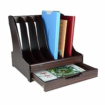 Carta presentación de bandejas escritorio Organizador bandeja de carga frontal pared DIY literatura titular archivo titular