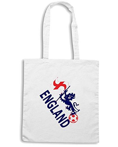 T-Shirtshock - Bolsa para la compra WC0072 ENGLAND INGHILTERRA Blanco