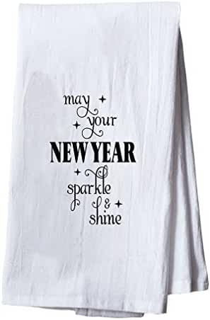 May Your New Year Sparkle & Shine Dish Flour Sack Kitchen Towel