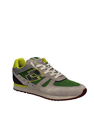 Lotto Leggenda S8840 Zapatillas De Deporte Hombre Gamuza/tejido Blanco VERDE/GRIGIO