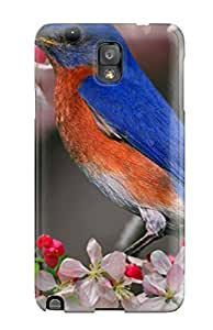 Durable Defender Case For Galaxy Note 3 Tpu Cover(bird Desktop Background)