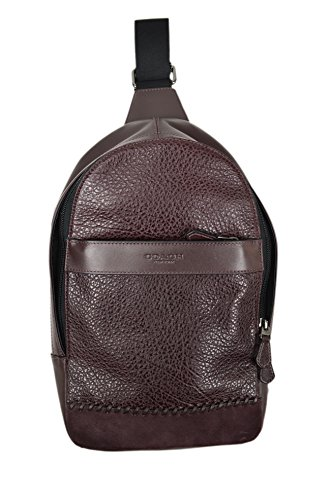 Leather Baseball Briefcase (COACH CHARLES PACK WITH BASEBALL STITCH, F11236, OXBLOOD)