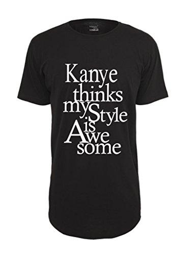 Be Famous Kanye Longshirt - Oversized T-Shirt black