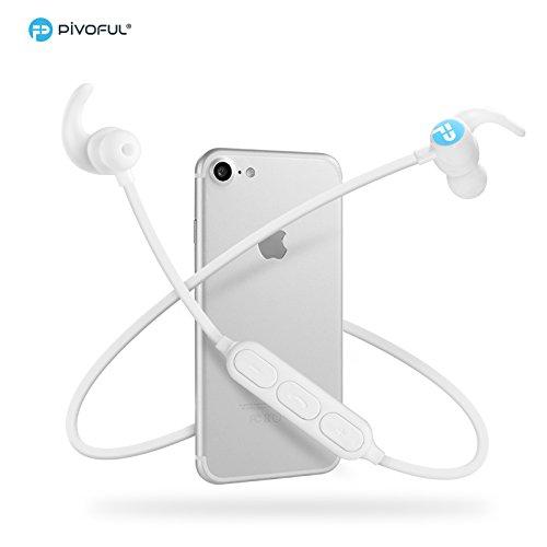 Pivoful Auriculares Deportivos Bluetooth 4.0 con micrófono ...