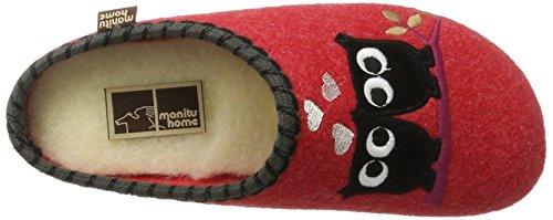 Pantofola Donna Rossa Casa Manitu 320514-4 Rosso
