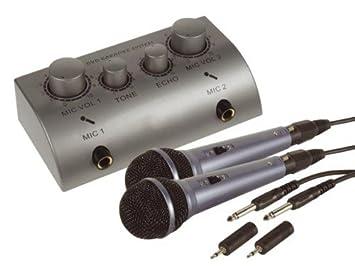 Kit karaoke 2 micros table de mixage mixer effet echo: amazon.fr