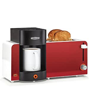 BELLA 14023 Toast and Brew Breakfast Station, Red