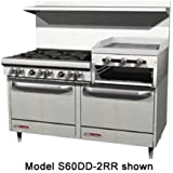 Southbend 400 Series Ultimate Restaurant Range 60 4 Burner raised griddle/broiler Convection Oven - 4607AC-2RR