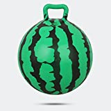 Hopper Ball with Handle Balls Toy for Toddlers and Kids (Diameter 8.5in/22cm),Inflatable Watermelon Bouncy Ball Jumping Bounce stress ball Children Health Care toy PVC Balance Balls for Boys & Girls Christmas party