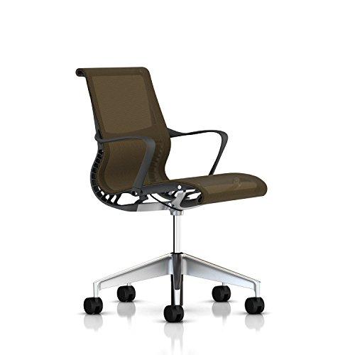 Herman Miller Setu Chair: Ribbon Arms - Hard Floor Casters -