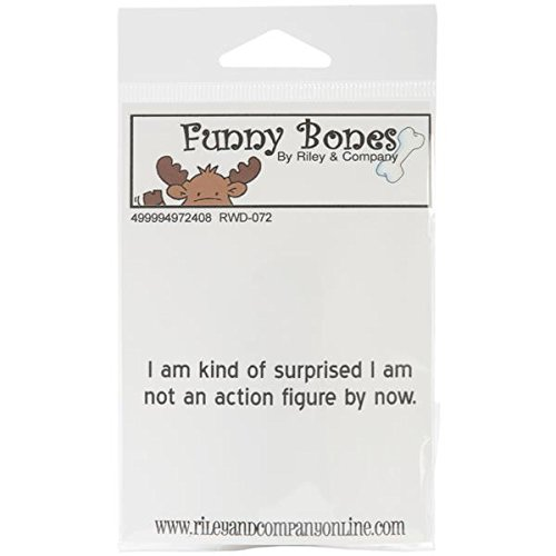 Riley & Company Funny Bones Cling Mounted Stamp, 3 by .5-Inch, Action Figure