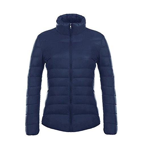 Piumino Da Cappotto Marino Ultra Blu Invernale Impacchettabile Donna Leggero Con Bozevon xqIwdU5U