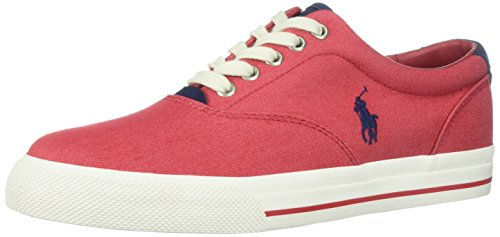 Polo Ralph Lauren Men's Vaughn-Colored Denim Sneaker, Red, 10 D - By Us Polo Lauren Ralph