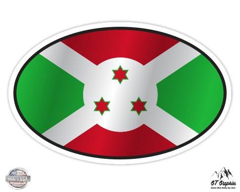 Burundi Flag Oval - 3