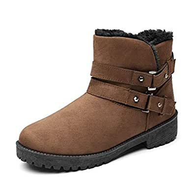 Amazon.com | LVYING Fujin Brand Women Ankle Boots Pu
