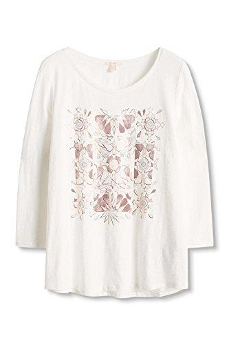 ESPRIT 086ee1k034, Camisa para Mujer Blanco (OFF WHITE 110)