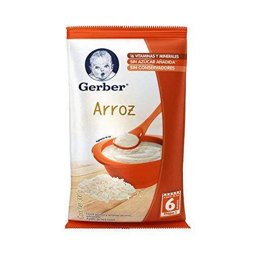 Gerber Cereales Arroz, Etapa 1, (6 Piezas)