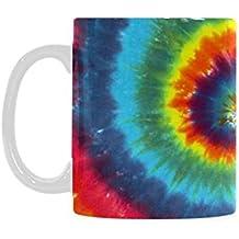 Fashion Style Colorful Tie Dye Excellent White Mug Ceramic Material Mug