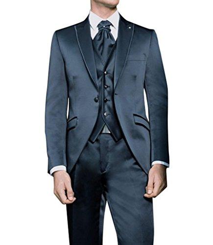 Suit Me Uomini Slim Fit 3 pezzi Tuxedo Matrimoni Suit Suits Tuxedos Giacche Pantaloni Vest HN26
