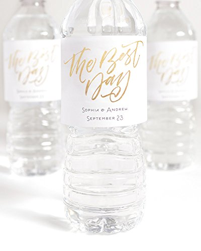 Personalized Printable Water Bottle Labels -