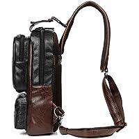 Sdiyabolo Men's Vintage PU Leather CrossBody Sling Bag