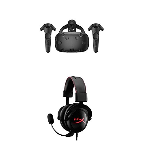 HTC VIVE Virtual Reality System and HyperX Cloud Gaming Headset Bundle by HTC
