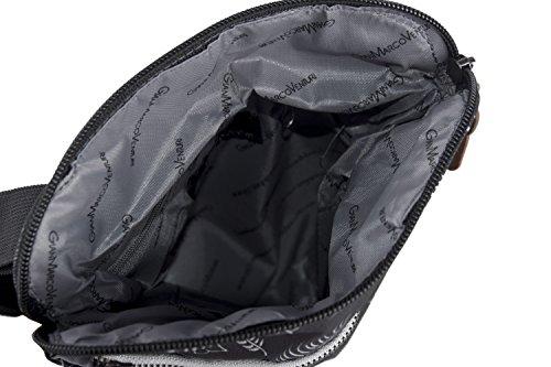 Umgehängt herren GIANMARCO VENTURI schwarz bandolier Taschen Kleine platt VF113