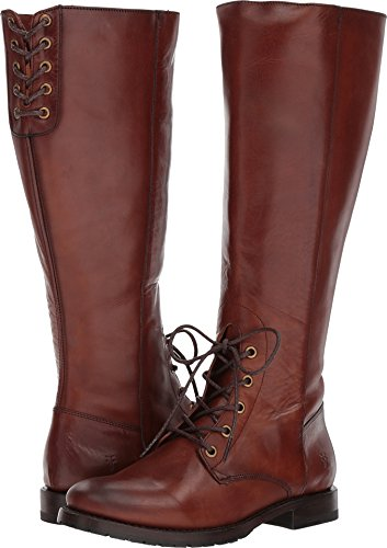 FRYE Women's Natalie Tall Combat Boot Redwood Smooth Oiled Veg buy cheap original 9kvFaKS