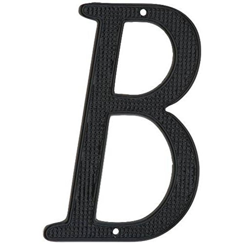 NATIONAL BRAND ALTERNATIVE 901047 Black Metal House Letter 'B', 4