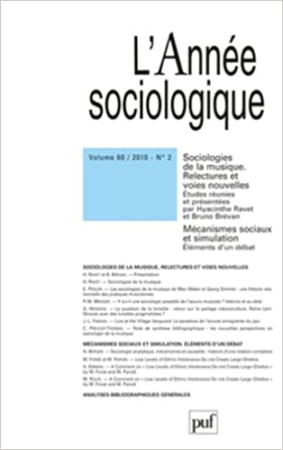 Lire un Année sociologique 2010 - VOL. 60 - N° 2 pdf