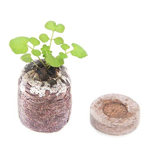 5pcs 30mm Peat Pellets Seed Starting Plugs Pallet Planting Seedling Soil Block Stupoto