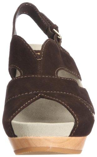 Earth Earthies Monaco dunkelbraun 5300011 - Zapatos de vestir de ante para mujer Marrón