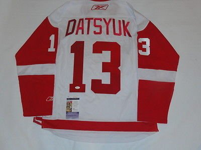 PAVEL-DATYSUK-SIGNED-DETROIT-RED-WINGS-2008-STANLEY-CUP-ROAD-JERSEY-JSA-COA