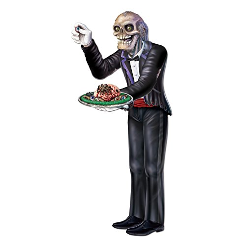 Beistle Jointed Butler Figurine for Party 5-Feet 6-Inch