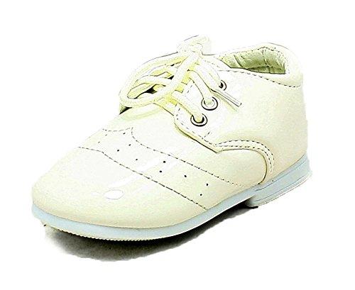 Babies / Kleine Jungen Weiß Patent Seite Jungen Schuhe