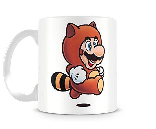 Super Mario Bros 3 Tanooki Suit Mario 11oz Ceramic Coffee Mug by Cotton Cult