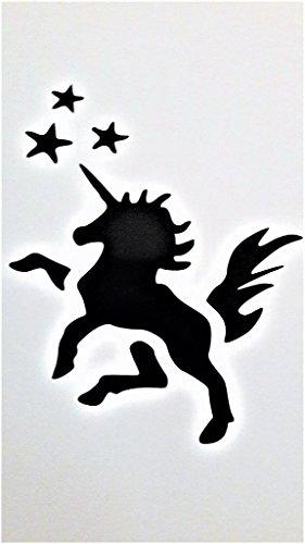 Unicorn My Little Pony Inspired Vinyl Decal Sticker|BLACK|Cars Trucks Vans SUV Laptops Wall Art|5.5