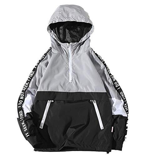 Slim Fit con Capucha Outwear Blusa de Sudadera Suéter de Barras paralelas de Costura para Hombre BaZhaHei Invierno…